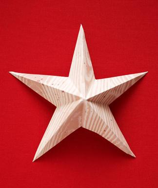 Звезда из бумаги (мастер-класс и схема)