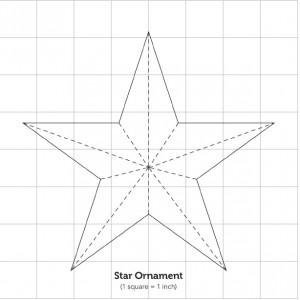 Как сделать звезду на листе бумаги