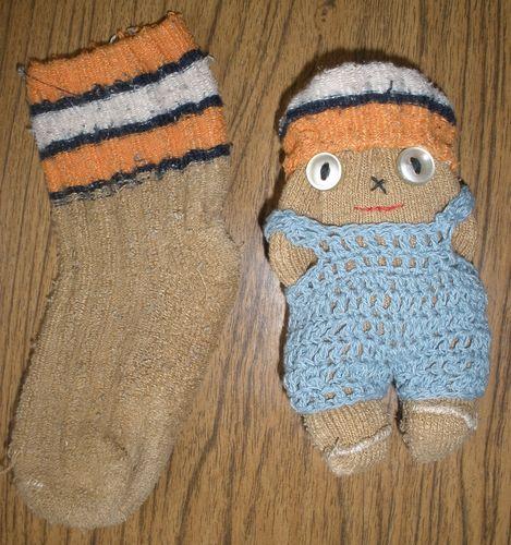 Примитивные куклы из носков (мастер-класс)