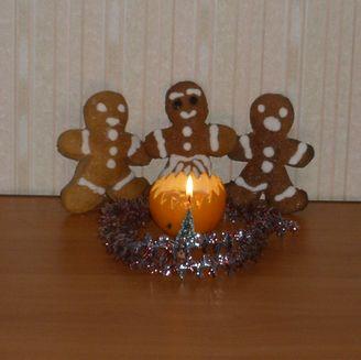 Свеча из апельсина и старых свечек