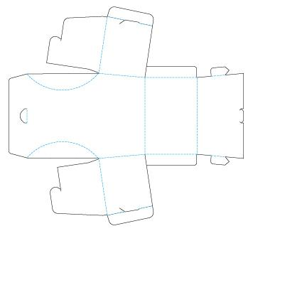 Шаблон сундука из бумаги: