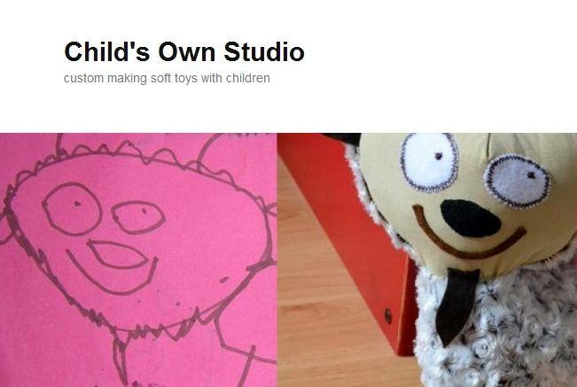 Самодельные игрушки по детским рисункам