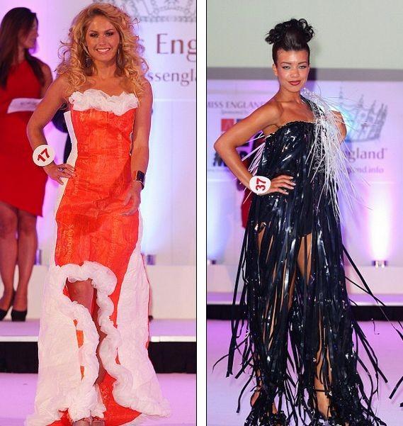 Платья из мусора для английских красавиц.