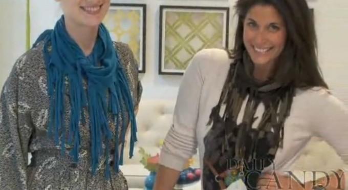 Что можно сделать из старой одежды: Модный осенний шарф из футболки. Мастер-класс