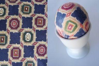 Как покрасить яйца на Пасху при помощи старых галстуков