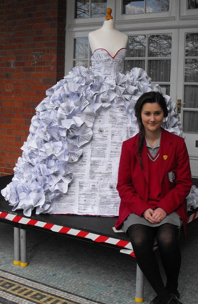 Как сделать платье своими руками из бумаги