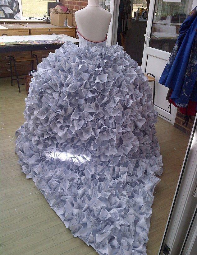 Платье из бумаги своими руками и как