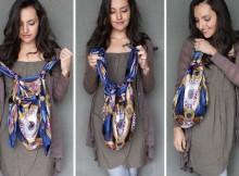Новое платье из футболки и сумка из платка