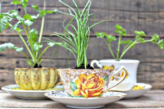 15 способов использования старых фарфоровых чашек