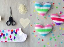 Разноцветные валентинки своими руками или вторая жизнь старых носков