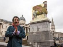 В Лондоне установили копию древней статуи из жестяных банок