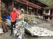 Платье из мешков от цемента